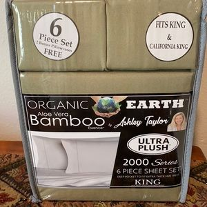 Organic Earth Aloe Vera Bamboo 6 piece sheet set
